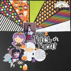 Doodlebug Design Inc Blog: Booville Collection: Trick or Treat Layout by Caroli