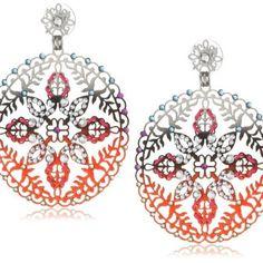 LK Earrings - Silver Plated Designer with fine Swarovski crystals – D R Designs $180