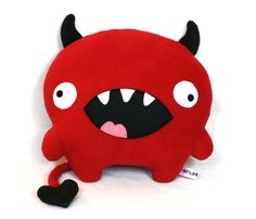 scary gits at DaWanda Other – Love Devil - softie plush toy sewing PDF – a unique product by Mariska bia en.dawanda.com