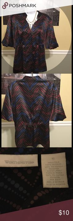Women's nice dressy blouse XL size 16 very nice This blouse is in excellent condition free from any rips tears stains or discoloration and comes from a smoke free home.  Buy with confidence I am a top rated seller, mentor, and fast shipper.  Thank you Worthington Tops Blouses