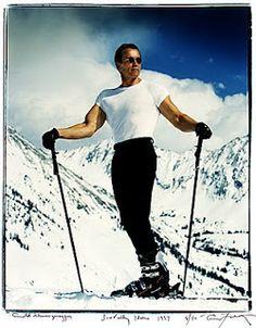 Arnold Schwarzenegger, Sun Valley, Idaho, 1997 by Annie Leibovitz