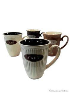 #mrcoffeelatte Set 4 French Coffee Latte Mugs Cups Bistro Cafe Decor by American Chateau, http://www.amazon.com/dp/B009XWUFCO/ref=cm_sw_r_pi_dp_-G8Rqb0BWPDGX