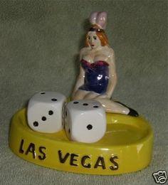 Vintage Vegas Showgirl Salt and Pepper Shaker Set