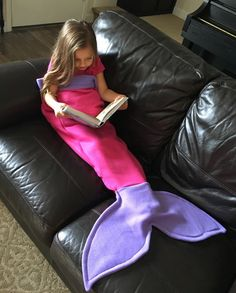 Super Soft Fleece Mermaid Tail Blanket Bag Hot by SwaddleBunny
