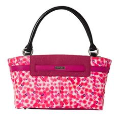 Is there anything more feminine than a bright floral print? The Classic Rosa features a totally unique custom print in shades of berry—with just a touch of navy—on a white faux leather background. Berry piecing and strap detail tie it all together. Hermes Kelly, Tote Handbags, Floral Prints, Tote Bag, Purses, My Favorite Things, Classic, Totes, Passion