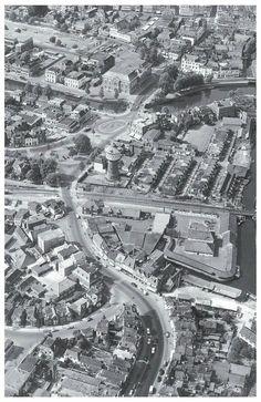 Luchtfoto van de Schrans  C.1959. Leeuwarden