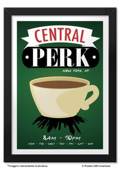 Central Perk - Séries | Posters Minimalistas