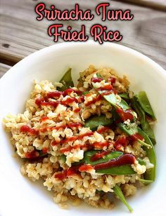 This month's Recipe ReDux theme was to do some spring cleaning with our cooking! I came up with an easy + healthy, protein-packed Sriracha Tuna Fried Rice!