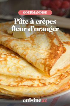 Une recette facile de pâte à crêpes maison à la fleur d'oranger. #recette#cuisine #pateacrepes #fleurdoranger Scones, Pancakes, Ethnic Recipes, Food, Orange Blossom, Waffles, Morning Breakfast, Food Porn, Home
