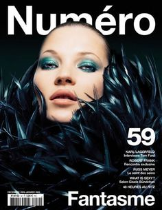Kate Moss covers Numero Magazine | fashion editorial | fashion photography | makeup inspiration