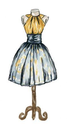 Fashion Art Watercolor Painting Dress Illustration by HippieHoppy - . - Fashion Art Watercolor Painting Dress Illustration by HippieHoppy – - Dress Design Drawing, Dress Design Sketches, Dress Drawing, Fashion Design Drawings, Fashion Sketches, Dress Illustration, Fashion Illustration Dresses, Fashion Illustrations, Watercolor Dress