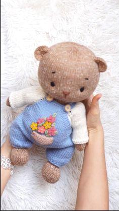 Plush Pattern, Crochet Doll Pattern, Crochet Toys Patterns, Doll Patterns, Knitting Patterns, Clothes Patterns, Knitting Bear, Crochet Bear, Knitting Toys