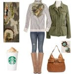 everyday winter..equipped with starbucks :)