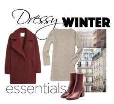"""""""winter dressy"""" by luv-mee ❤ liked on Polyvore featuring Haussmann, Rebecca Minkoff, MANGO and Maison Margiela"""