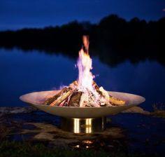 "Fire Pit Art Bella Vita - 46"" Stainless Steel Fire Pit (BV46)"