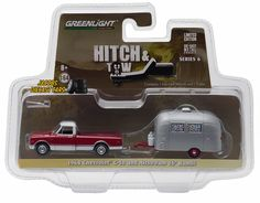 1:64 GREENLIGHT HITCH AND TOW SERIES 6  - 1968 CHEVROLET C-10 and AIRSTREAM 16'  #GreenLight #Dodge