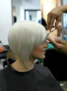Bob haircuts for white hair
