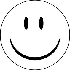 Blank Smiley-Face Coloring Pages