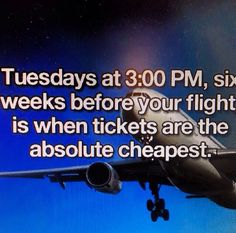 Best time to purchase an airplane tickets