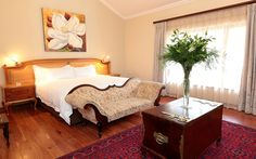 The quaint four-star Kleinkaap Boutique Hotel in Centurion, Pretoria, was inspired by the fairest Cape and exudes the beauty and elegance typical in this region of South Africa. Pretoria, South Africa, Boutique, Elegant, Bed, Hotels, Inspiration, Furniture, Home Decor