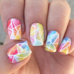 Broken and Shattered Glass Nail Art Trend 2016