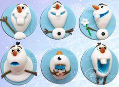 Edible Fondant Disney Frozen 3D Olaf Cupcake Toppers