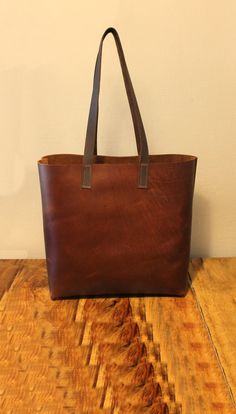 Sale!!! Vintage brown leather tote bag large leather hanbag leather Handmade bag, Carry all with LOVE!!!! by LimorGalili on Etsy