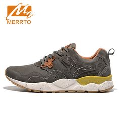 2017 MERRTO Women Classic Running Shoes Retro Sneakers Breathable Genuine  Leather Footwear Cushioning Waterproof Sports Shoes d73854af1922