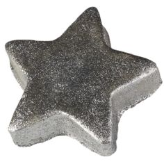 Star Light, Star Bright Bath Bomb from LUSH cosmetics.  Ginger, lavender, and lime oil, plus silver shimmer.