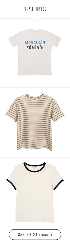 """""""T-SHIRTS"""" by baekrang ❤ liked on Polyvore featuring tops, t-shirts, shirts, tees, white boyfriend shirt, oversized white t shirt, summer t shirts, boyfriend t shirt, oversized t shirt and clothes - tops"""