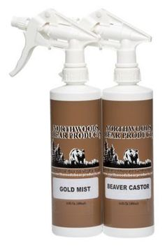 Northwoods Bear Products Spray Scent Twin Pack Bear Attractant - 2 pack/16 oz - Beaver Castor/Gold Mist