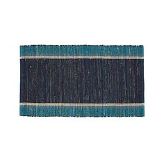 "Quentin Blue Cotton 30""x50"" Rug 