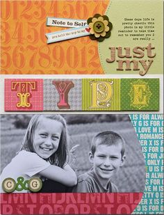 Layout by Summer Fullerton on the Jillibean Soup Blog - love it!