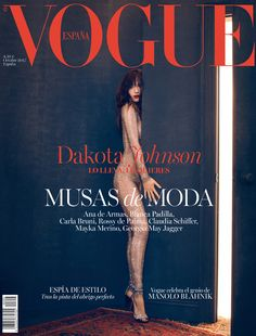 Dakota Johnson Covers 'Vogue Spain' in a Bedazzled Bodysuit!: Photo Dakota Johnson hides partially behind a door while wearing a bedazzled bodysuit for the cover of Vogue Spain's October 2017 issue, on newsstands September … Vogue Magazine Covers, Fashion Magazine Cover, Fashion Cover, Vogue Covers, Dakota Johnson Stil, Dakota Mayi Johnson, Dakota Johnson Body, Georgia May Jagger, Carla Bruni