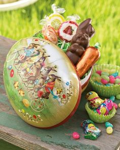 Papier-mache Easter Egg. I bought these last year and they were great.