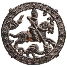 Medieval Pewter Pilgrim Souvenir, Badge of St. George, 1400 AD at 1stdibs