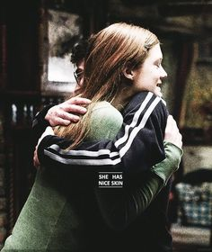 "Harry Potter and Ginny Weasley - ""She has nice skin"" :) <<< it's movie Ginny but hey I'll go with it"