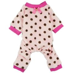FurBaby Pink Cute Polka Dots Dog Coat for Pet Dog Pajamas Soft Winter Clothes, Small ~ You can visit the image link more details. (This is an affiliate link and I receive a commission for the sales)