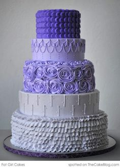 Buttercream wedding cake.. Shows lots of different looks possible without fondant, also hilights how colour is an option too