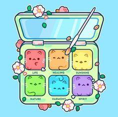 🌟💕 If you like makeup, now you will like double because it is kawaii makeup! Griffonnages Kawaii, Arte Do Kawaii, Kawaii Makeup, Kitty Makeup, Cute Food Drawings, Cute Animal Drawings Kawaii, Cartoon Drawings, Kawaii Doodles, Cute Doodles