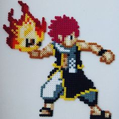 Natsu Dragneel - Fairy Tail hama beads by planeta_namek