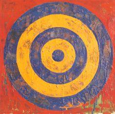 Pop Art is: Target, Jasper Johns Tachisme, Frank Stella, Jean Michel Basquiat, Rene Magritte, Jackson Pollock, Pop Art, Edward Hopper, Magna Carta, Cultura Pop