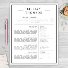 Resume Cover Letter Modern Resume by ResumeTemplateStudio on Etsy