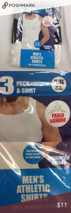 🌴NEW LISTING🌴 NWT Paola Sandro 3 Pk A-Shirt New with tag. Gray, black and white. 3 men's athletic shirts. 100% premium cotton. Size XL. (7/12) Paolo Sandro Underwear & Socks Undershirts