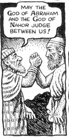 Robert Crumb - The story of Jacob - Jacob and Laban part on more friendly terms (Genesis 31:53)