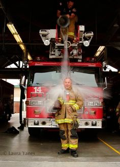 Creating portraits of firefighters around the nation #photography #unique view #prophotogs