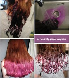 Dip-Dye hair how to, the real thing not just Kool-Aid like I usually do