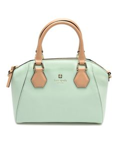 Another great find on #zulily! Mint Mojito Mini Pippa Parnell Street Leather Satchel #zulilyfinds