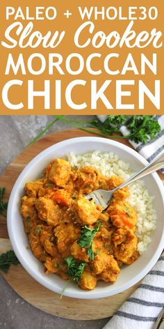 Make This Easy and Delicious Slow Cooker Moroccan Chicken Crock Pot Recipes Best Paleo Recipes, Healthy Chicken Recipes, Whole Food Recipes, Paleo Crockpot Meals, Slow Cooker Chicken Healthy, Cooking Recipes, Healthy Foods, Cooking Tips, Chicken And Sweet Potato Slow Cooker Recipe