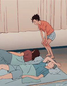 bertholdts: wakey wakey little crows ^^ (Haikyuu!! Season 2, e.9)